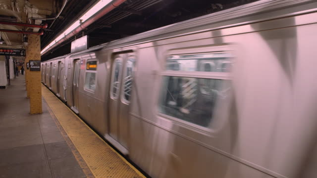 Passing L Train at the 6th Avenue Subway Station