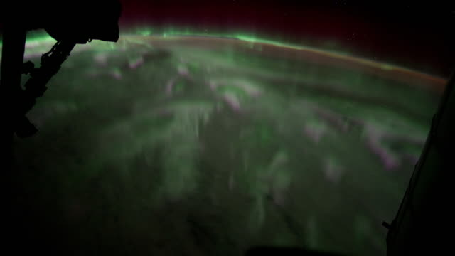 passing over aurora australis time lapse - aurora australis stock videos & royalty-free footage