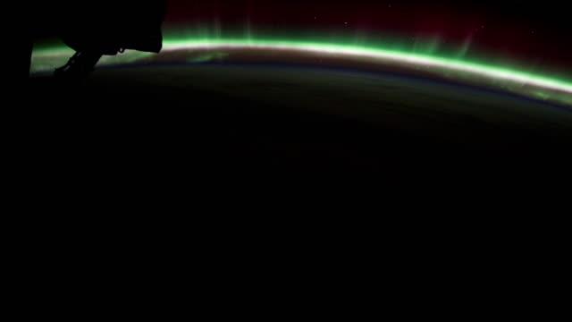 passing over aurora australis - aurora australis stock videos & royalty-free footage