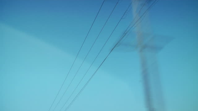 passing poles - telegraph pole stock videos and b-roll footage