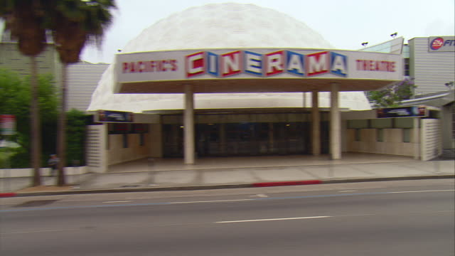side pov passing store fronts along sunset boulevard, hollywood, california, usa - sunset boulevard stock-videos und b-roll-filmmaterial