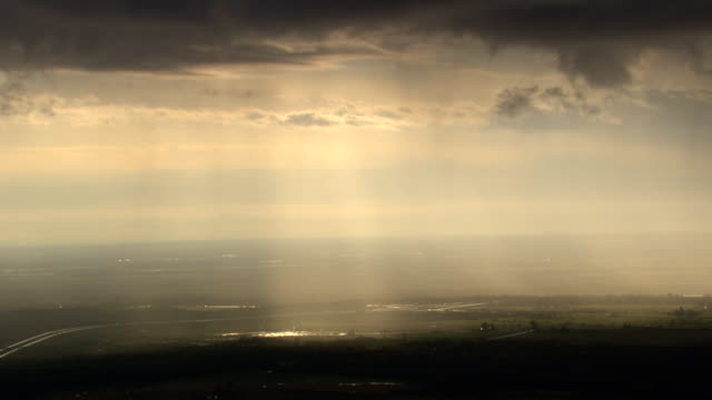 passing storm over lake ontario - storm cloud stock-videos und b-roll-filmmaterial