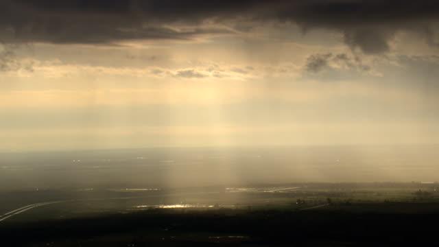 stockvideo's en b-roll-footage met passing storm over lake ontario - ontariomeer