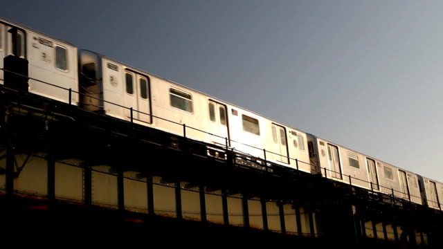 passing subway 7 train in queens nyc - moving past stock videos & royalty-free footage
