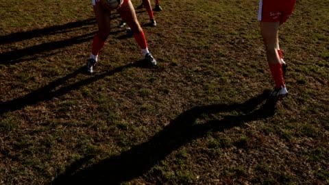 ラグビーのフィールドにボールを渡す - スポーツ ラグビー点の映像素材/bロール