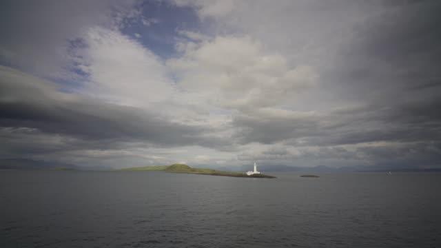 vídeos y material grabado en eventos de stock de passing the eilean musdile lighthouse - isla de mull