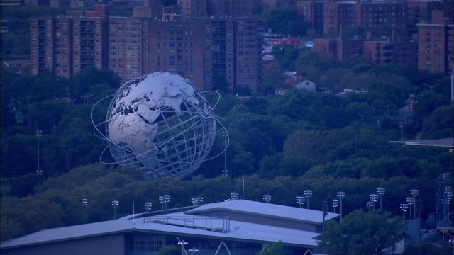 WS Passing the Unisphere World's Fair Pavilion Observation Towers 1964/1965 New York World's Fair NYC