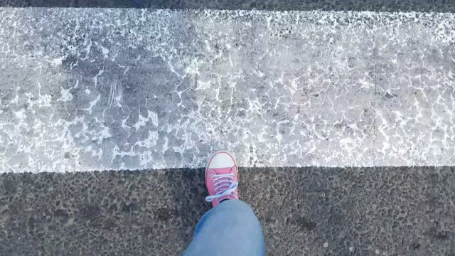 passing the zebra crossing pov - zebra crossing stock videos & royalty-free footage
