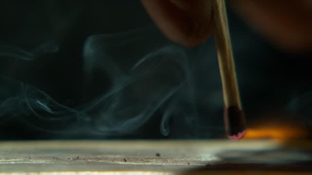 vídeos de stock e filmes b-roll de passion is the fire of life - caixa de fósforos