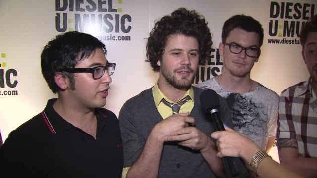 passion pit on who they are excited to see this evening at the the 2009 dieselumusic tour hits nyc at new york ny - popular music tour stock videos & royalty-free footage