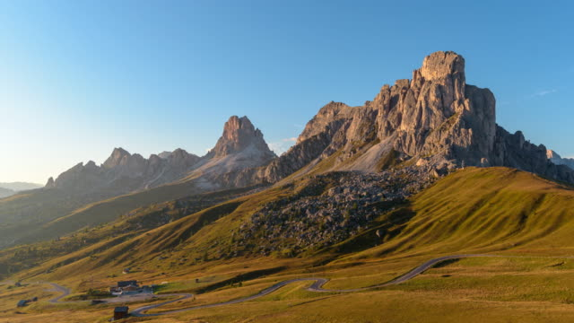 Passo di giau beroemde reizen locatie in Dolomieten Italië, 4k time-lapse