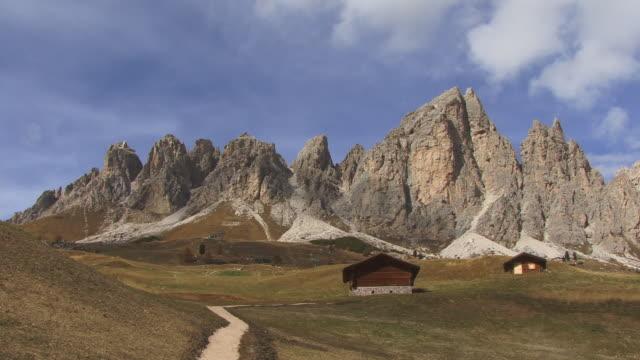ws, passo gardena, province of bolzano-bozen, dolomites, alps, italy - european alps stock videos & royalty-free footage