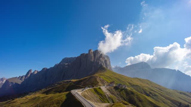 Passo Sella Timelapse, Dolomiten
