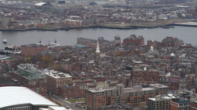 past north end boston; old north church in mid-frame. shot in november 2011. - old north church stock videos & royalty-free footage