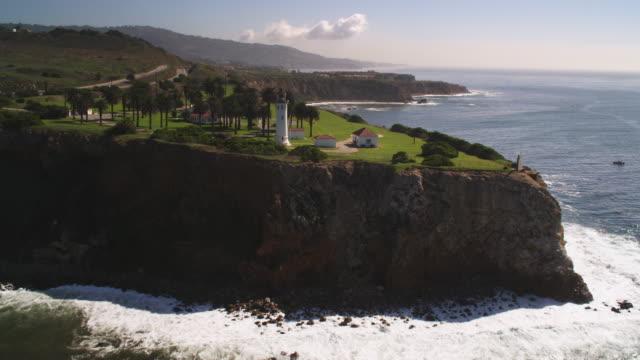 past point vicente lighthouse on the california coast - artbeats 個影片檔及 b 捲影像