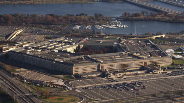 past the pentagon with columbia island marina in background. shot in 2011. - the pentagon stock videos & royalty-free footage