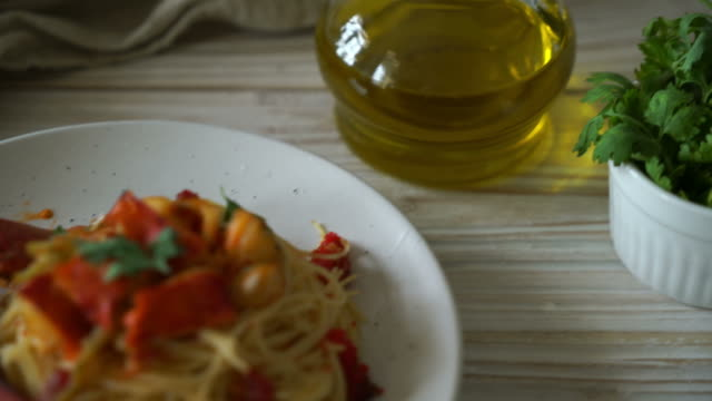 pasta all'astice or lobster spaghetti - scampi seafood stock videos and b-roll footage