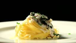 pasta and mushroom