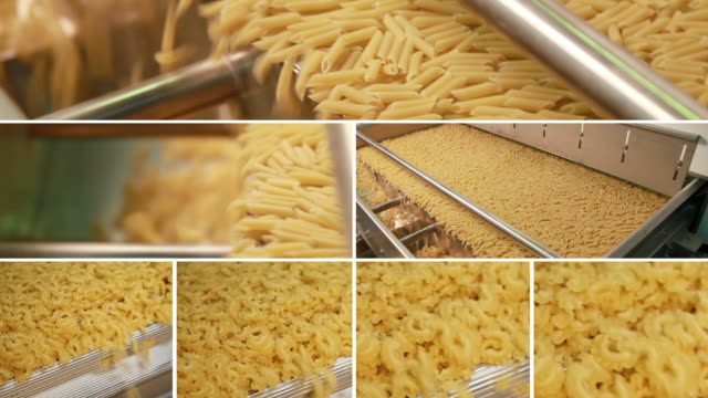 pasta composition - group of objects stock videos & royalty-free footage
