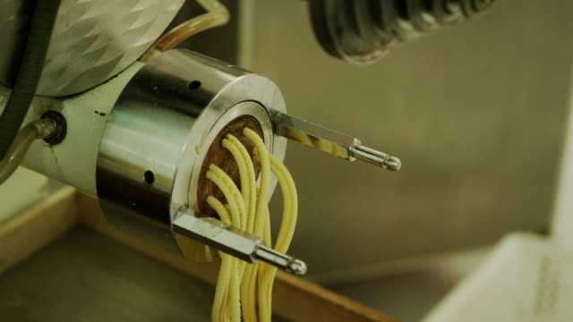 pasta manufactory - pasta machine stock videos and b-roll footage