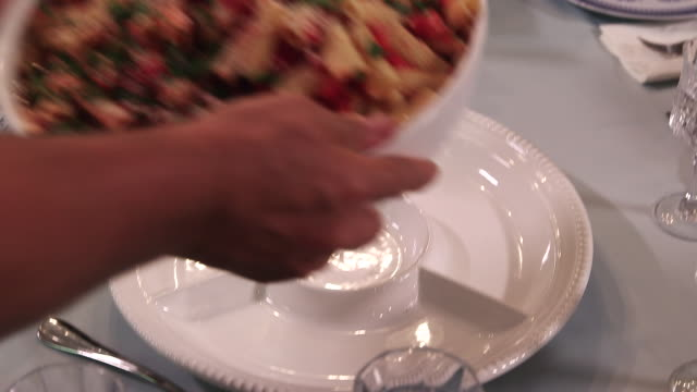 pasta placed on table x2 cu - wiese stock videos & royalty-free footage