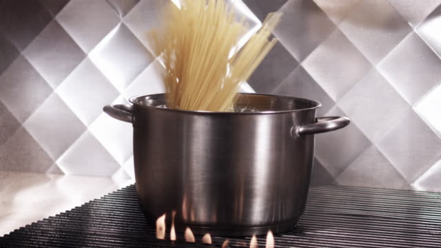 pasta toss with stir - boiling water stock videos and b-roll footage