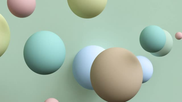 pastel abstract 3d rendering of looped animation with geometric shapes. motion design, 4k uhd - digital animation stock videos & royalty-free footage