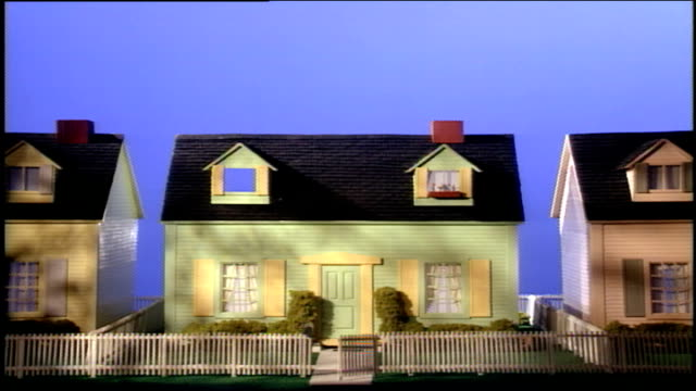 pastel colored model houses in nyc - playhouse stock videos and b-roll footage