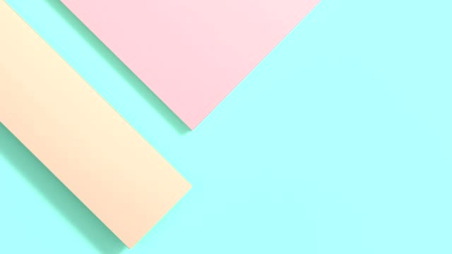 vídeos de stock e filmes b-roll de pastel colorful flat lay abstract background 3d rendering motion minimal - pastel