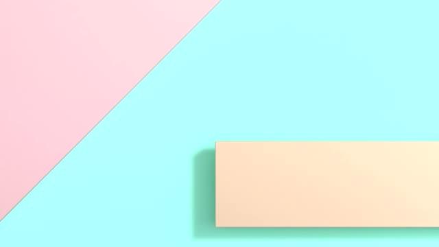 パステル調のカラフルなフラット横たわっていた抽象的な背景、3 d レンダリングの動きが最小限 - パステルカラー点の映像素材/bロール