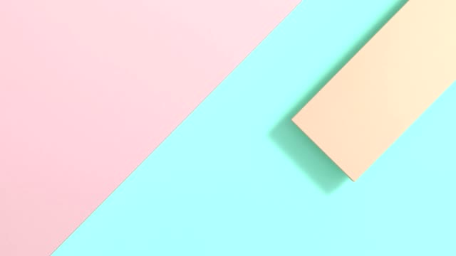 pastel colorful flat lay abstract background 3d rendering motion minimal - square stock videos & royalty-free footage