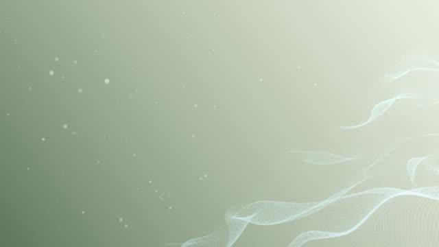 Pastel groen 4K golven achtergrond oneindige lus