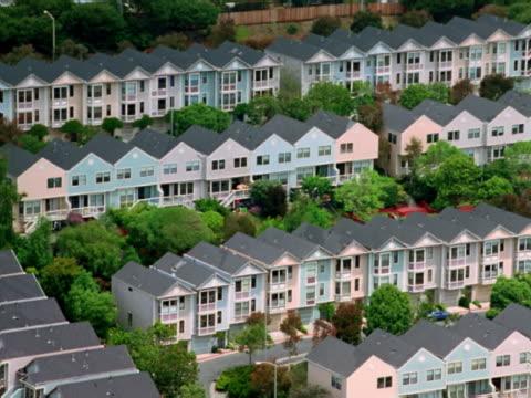 Pastel neighborhood