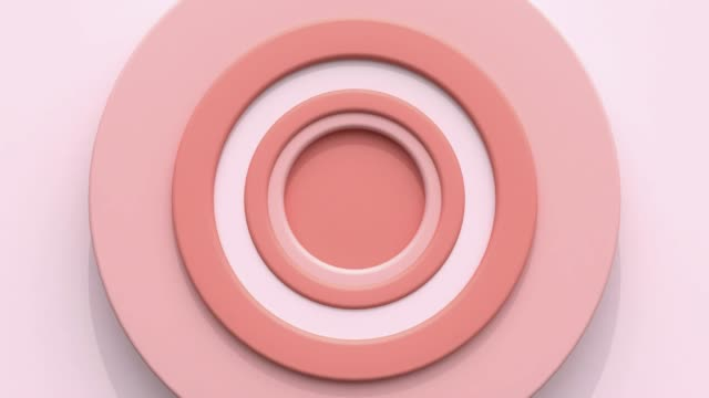 pastel pink white circle shape flat scene 3d rendering motion shooting pointing concept - still life stock videos & royalty-free footage