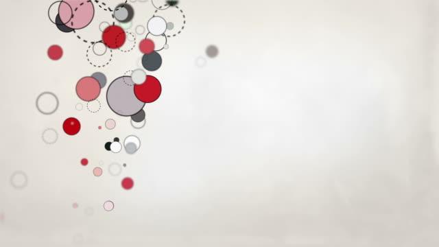 Pastel Shapes Loop - Red colour splash HD