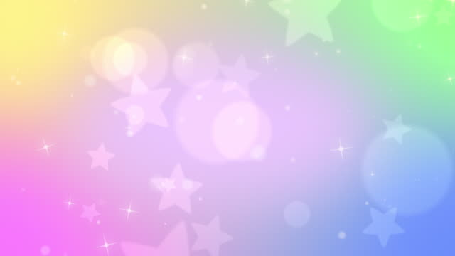Pastel subtle looping star bokeh background