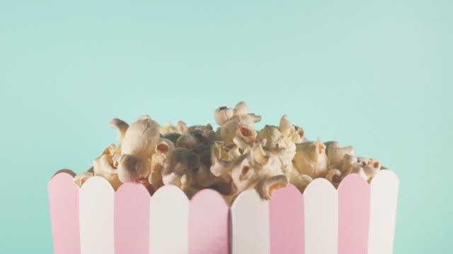 pastel themed popcorn - pastel stock videos & royalty-free footage
