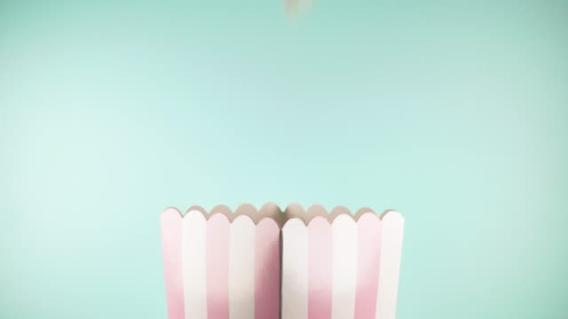 pastel themed popcorn - popcorn stock videos & royalty-free footage