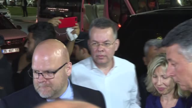 S pastor Andrew Craig Brunson has boarded a private jet headed for Germany after departing from his residence in Turkey's western province of Izmir...