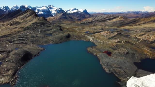 pastoruri glacier, ancash, perù - peruviano video stock e b–roll