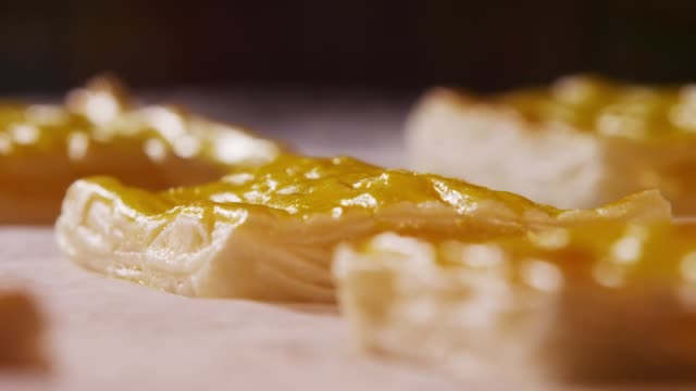 a pastry being baked and rising in the oven - french food stock videos & royalty-free footage