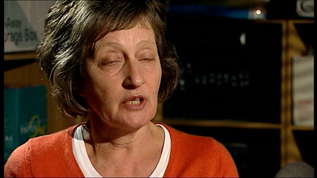 vídeos de stock, filmes e b-roll de interview with widow int geraldine finucane interview sot mr cameron did admit that collusion happened and he did say it was important to find out... - widow