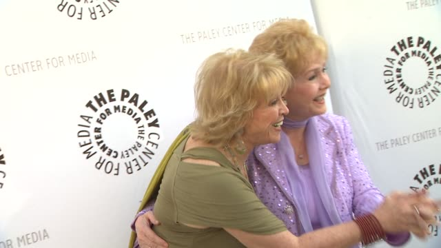 pat mitchell and debbie reynolds at the the paley center for media presents a special premiere viewing & reception, 'debbie reynolds: the exhibit' at... - debbie reynolds stock-videos und b-roll-filmmaterial