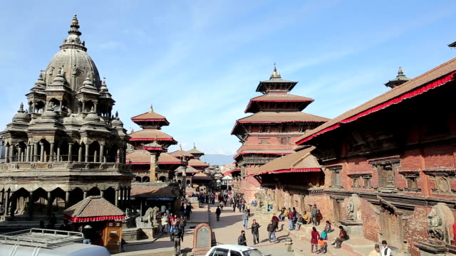 patan durbar square,kathmandu,nepal - unesco world heritage site stock videos & royalty-free footage