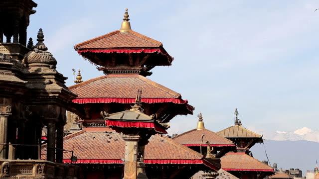 patan durbar square,kathmandu,nepal - male likeness stock videos & royalty-free footage