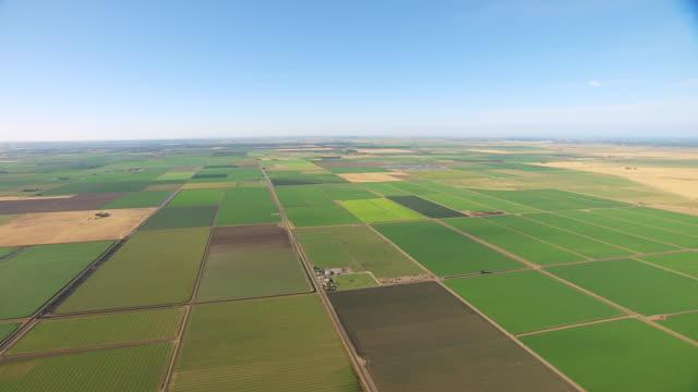 ws aerial pov patchwork farmland in west of sacramento / sacramento, california, united states - sacramento stock videos & royalty-free footage