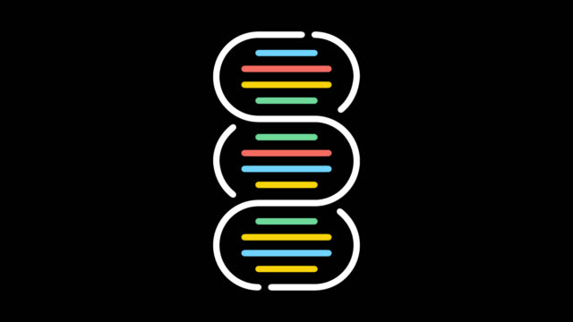 dna paternity test line icon animation with alpha - line art video stock e b–roll