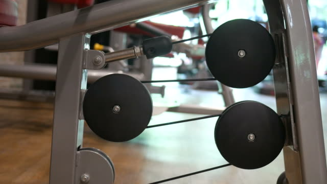 Pfad der Gewichte Ausrüstung bewegen, Nahaufnahme