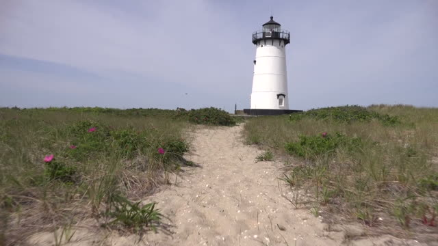 Path Through Dunes to Lighthouse