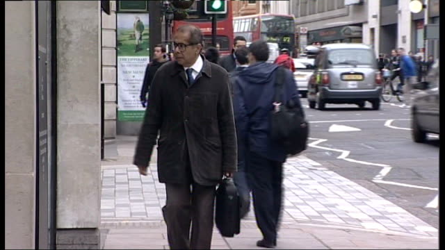 pathologist freddy patel struck off medical register lib / london ext dr freddy patel arriving at ian tomlinson inquest - pathologist stock videos and b-roll footage